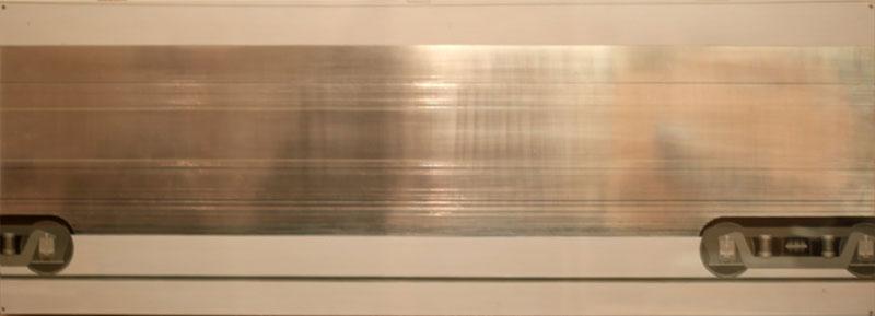 """Untitled   Aluminum & Plexiglass, 17"""" x 48"""""""
