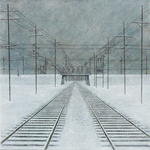 "BRIDGE   Acrylic on Canvas 30"" x 30"""