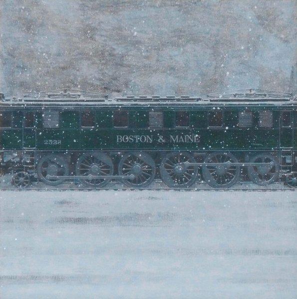 "Boston & Maine, acrylic on canvas, 30"" x 30"""
