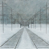 "BRIDGE | Acrylic on Canvas 30"" x 30"""