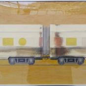 "Untitled (Yellow Express) | Mixed Media 25"" x 34"""