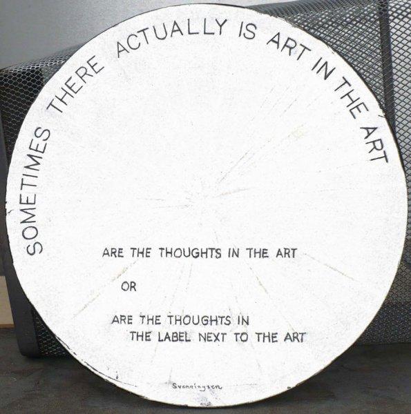 "Art In the Art, Mixed Media, 12"" diameter"