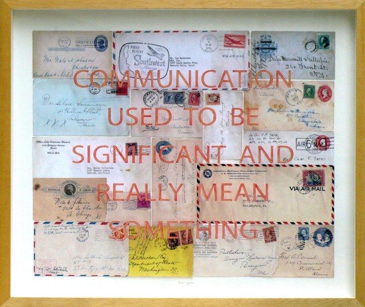 "Communication, mixed media, 20"" x 24"""